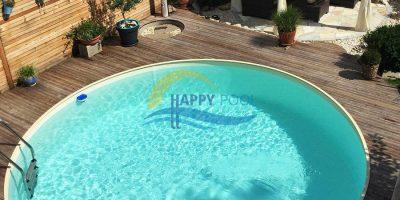 Happypool - Piscina îngropată rotundă cu pereți din oțel galvanizat